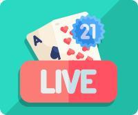 croupière live blackjack casino