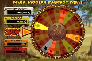 mega moolah jackpot wheel