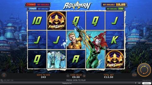 Aquaman machine à sous Playtech