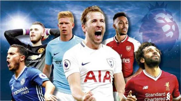 Hazard De Gea Kane De Bruyne Aubameyang Kane Salah Premier League