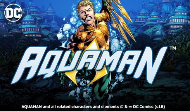Aquaman machine à sous Playtech présentation