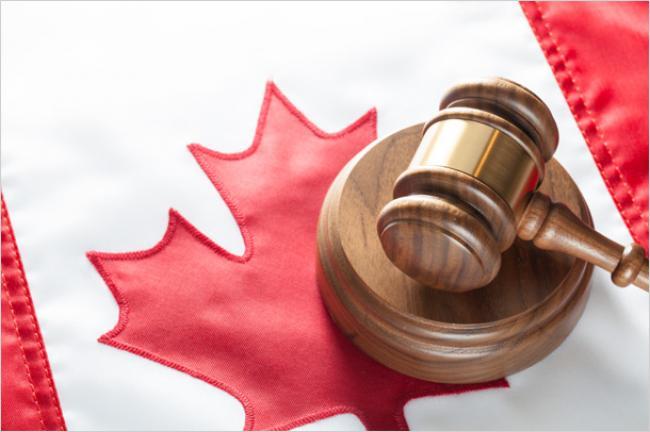 Drapeau justice canadienne